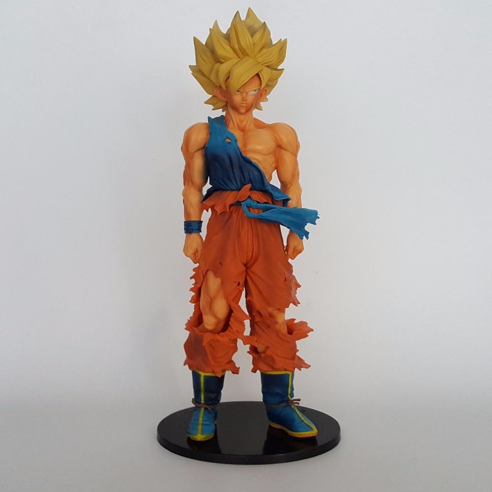 ФОТО Dragon Ball Z Action Figures Toys Son Goku Super Saiyan Anime Dragonball Z Figures DBZ Collectible Model Toy 350mm