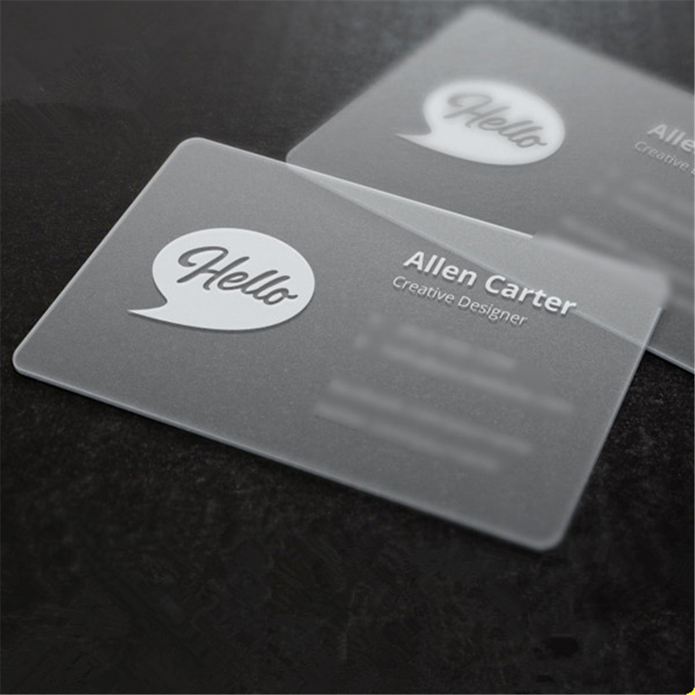 online  whole transparent plastic business cards from china