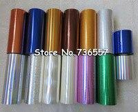 1 Roll Hot Stamping Foil Paper Roll Holographic Foil Transparent Foil Plastic 16cm X120m Golden Silver