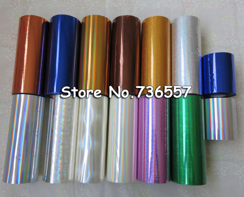 1 Roll Hot Stamping Foil Paper Roll Holographic Foil Transparent Foil Plastic 16cm X120m Golden Silver Bronze 19 Color Available