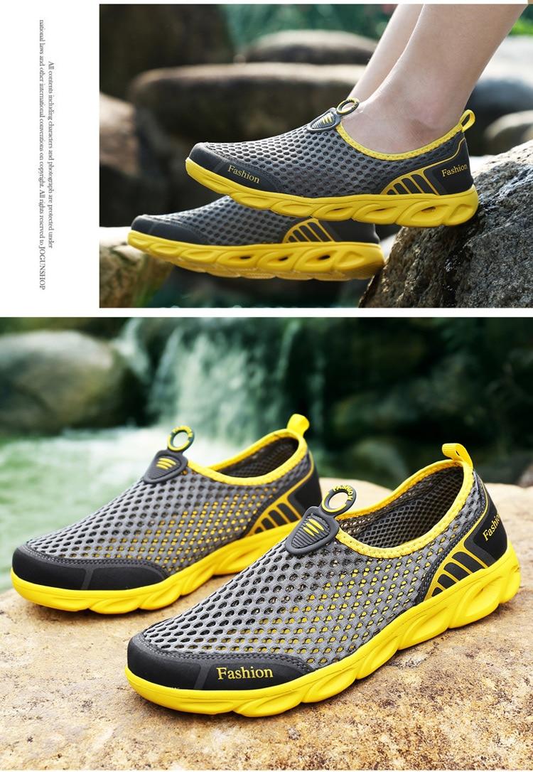 HTB15d.7N4naK1RjSZFtq6zC2VXaA Men Casual Shoes Sneakers Fashion Light Breathable Summer Sandals Outdoor Beach Vacation Mesh Shoes Zapatos De Hombre Men Shoes