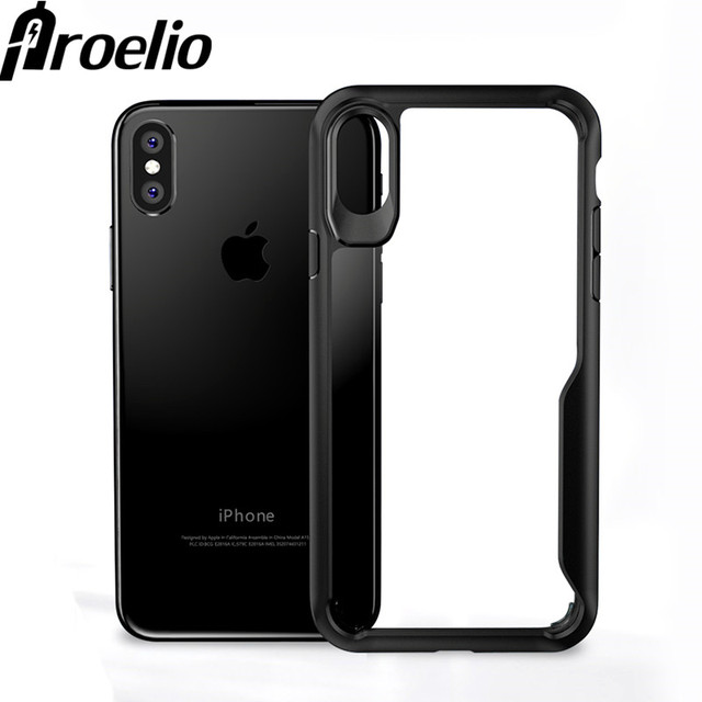 cf48cab8ae Proelio Shockproof Case For iphone X 7 Plus Soft TPU Transparent Clear  Ultra Thin Back Cover For Apple iphone 7 8 8 Plus 10 Case