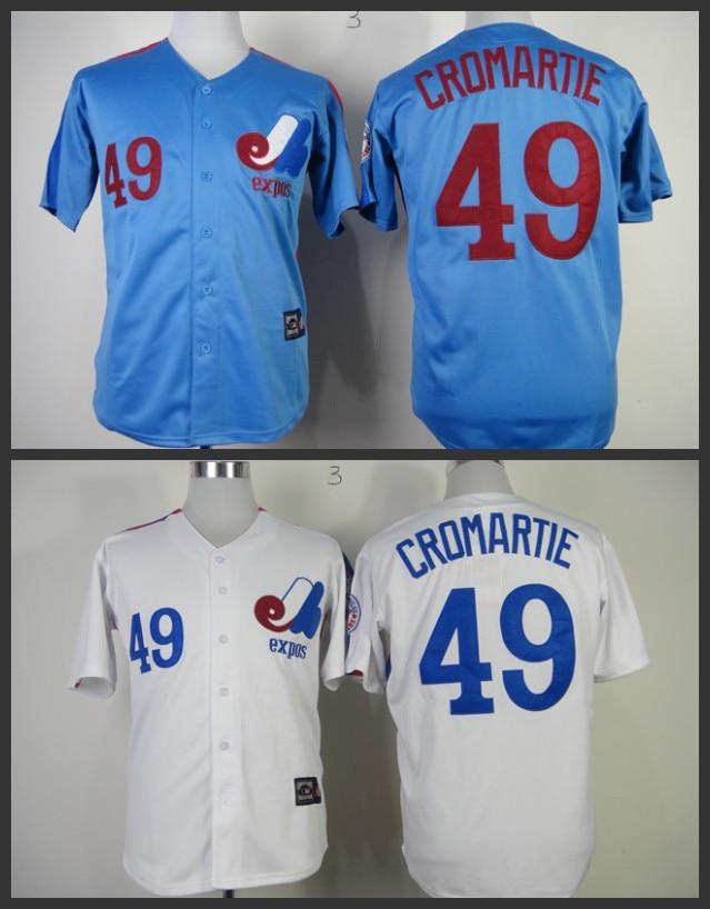 various colors a652e 0ff08 Cheap stittched Montreal Expos jersey/shirt 49 Warren ...