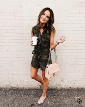 Summer Style Rompers Womens Jumpsuit Washed Hole Camouflage Denim Sleeveless