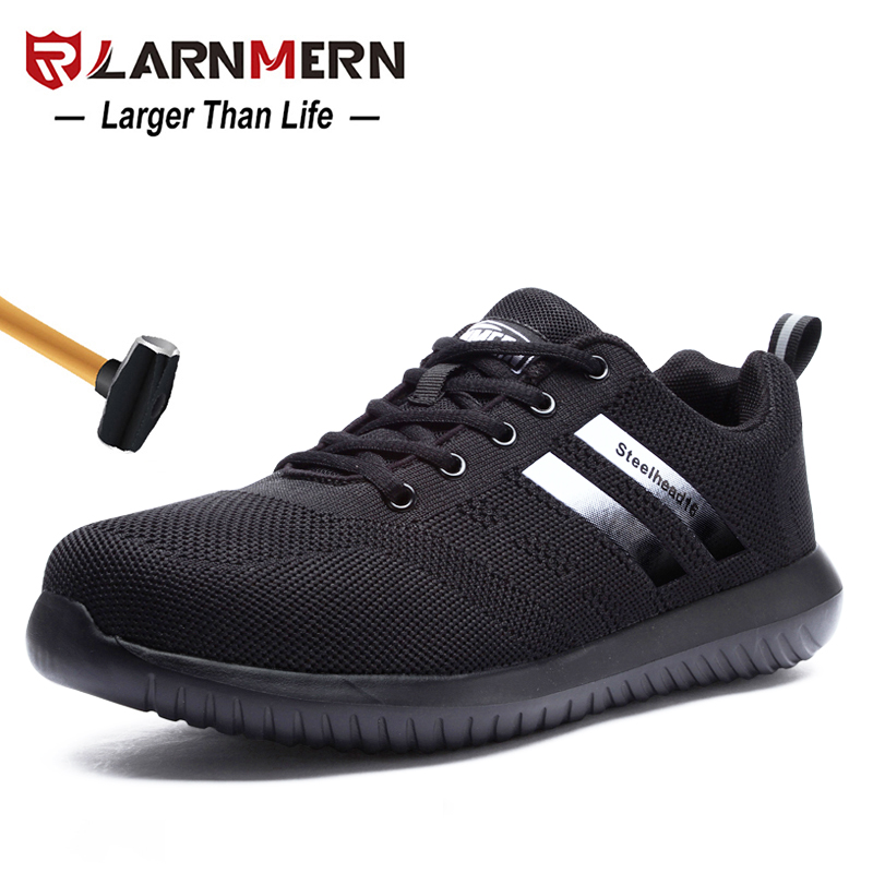 LARNMERN Mens Steel Toe Work Safety Shoes Anti-smashing Anti-puncture Breathable Lightweight Construction Protective FootwearLARNMERN Mens Steel Toe Work Safety Shoes Anti-smashing Anti-puncture Breathable Lightweight Construction Protective Footwear