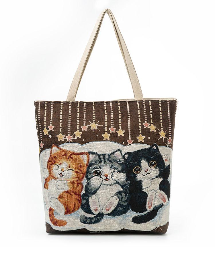 HTB15d.nQFXXXXXnXpXXq6xXFXXX3 - Women's Beach Cats Embroidered Handbag