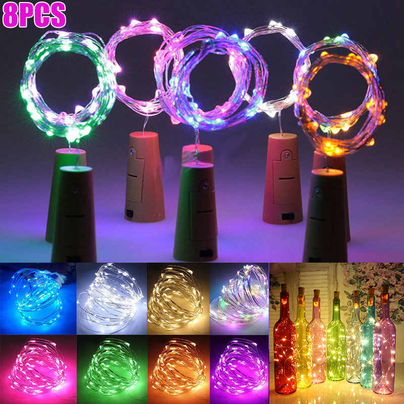 8 Pcs Led Bottle Cork String Lights Party Diy Home Decor Wine Bottles Copper Wire 20 Leds Light 8 Wwo66 Aliexpress,Plants For Living Room Corner