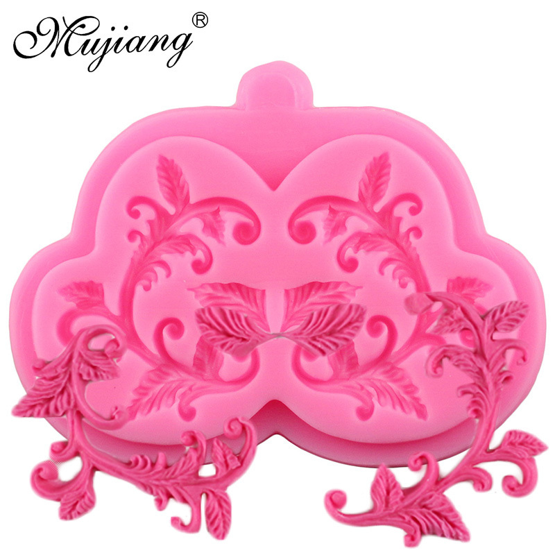 Cake Border Silicone Mold Flower Vine Fondant Cake Decorating Tools Chocolate Gumpaste Molds Cupcake Baking Mould