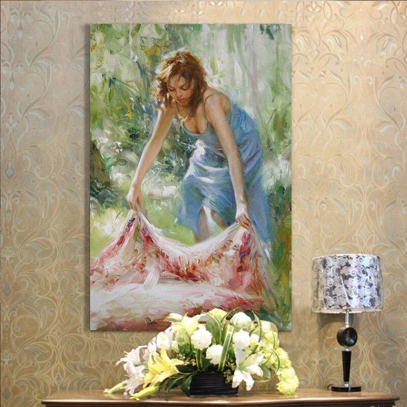 Лидер продаж леди картина маслом ручной росписью маслом на холсте для Домашний Декор стены Книги по искусству изображение