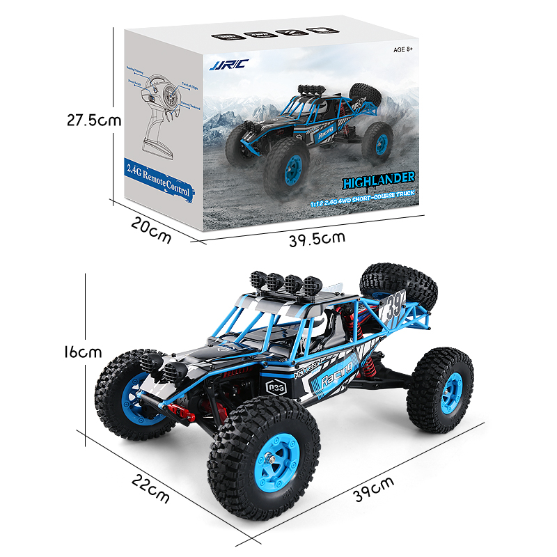 JJRC Q39 HIGHLANDER 1:12 4WD RC Desert Truck 35km/H Racing Car With High-Torque Servo RTR Brushed Motor RC Car Toy For Children