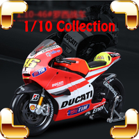 New Year Gift DCT YMH 1/10 Model Motorcycle Alloy Collection Diecast Metallic Motorbike Decoration Toys Car Children Present