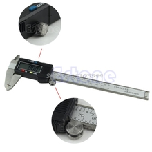 6 Inch 150mm Electronic LCD Digital Vernier Caliper Gauge Ruler Stainless Steel Drop Ship