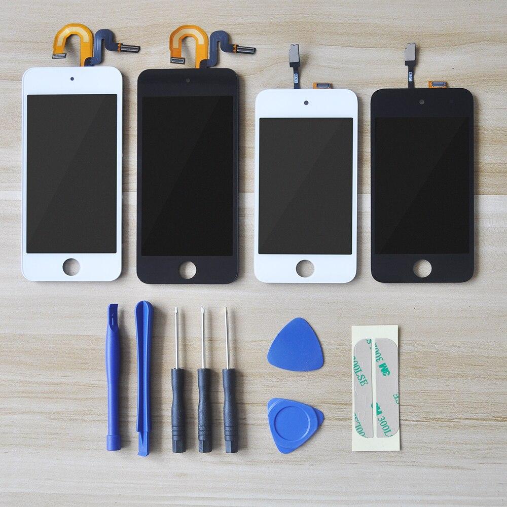 Сенсорная панель Sinbeda для iPod Touch 4 5 6 6, ЖК-дисплей со стеклянным датчиком и дигитайзером в сборе для iPod Touch 5 5, ЖК-дисплей