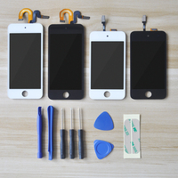 Sinbeda melhor qualidade para ipod touch 4 5 6 6th lcd painel de toque sensor vidro digitador assembléia para ipod touch 5 5th display lcd|LCDs de celular| |  -