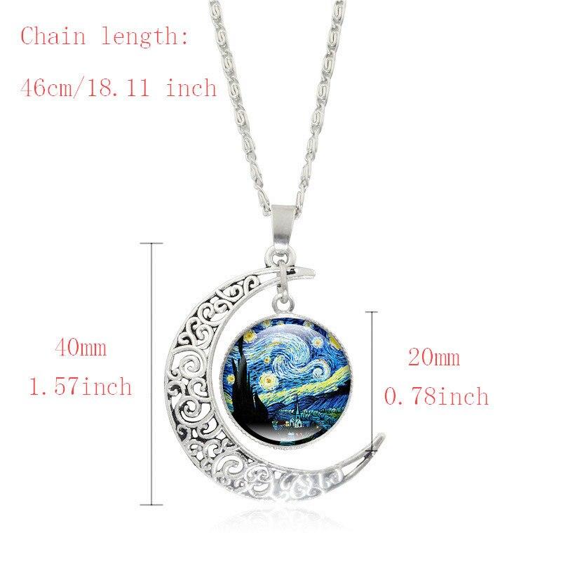 Partyfareast Van Gogh Star Time Gem Pendant Necklace Jewelry Sets Necklace Stud Earrings Bracelet For Women Jewellery Sets