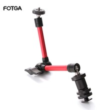 """FOTGA 11 """"Регулируемый фрикционный шарнирный магический рычаг для DSLR Rig ЖК монитора светильник ка"""