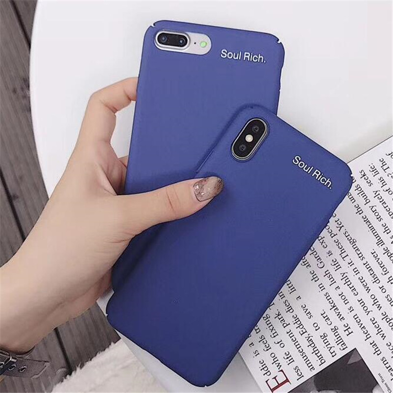 buy online e29b4 3841e US $1.89 20% OFF|Cute Letter Blue Hard PC Case For Xiaomi Mi8 Redmi 5 Plus  Back Cover For iphone 5 6s 7 8 X For Samsung Galaxy Note 9 8 S8 S9 Plu-in  ...