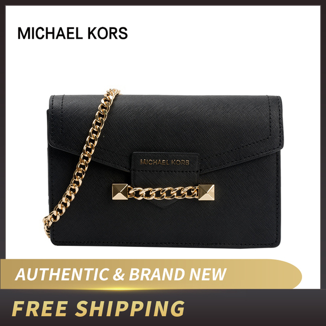 244d7acc49 US $134.1 10% OFF|Michael Kors karla Wristlet Chain Saffiano Leather  Crossbody Bag 35S9GKGC8L/35S9GKGC8T-in Top-Handle Bags from Luggage & Bags  on ...