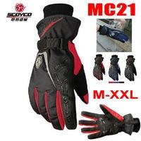 2016 New Scoyco waterproof warm motorcycle gloves MC21 Moto cycling racing gloves motorbike glove size M L XL XXL