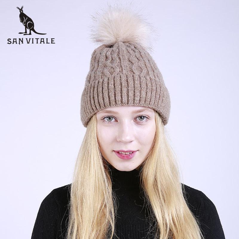 Women'S   Skullies     Beanies   Hats Winter Warm Hats 2018 Fashion Caps Pom Pom Rick And Morty Fur Luxury Brand Cashmere Plaid Ski Mask
