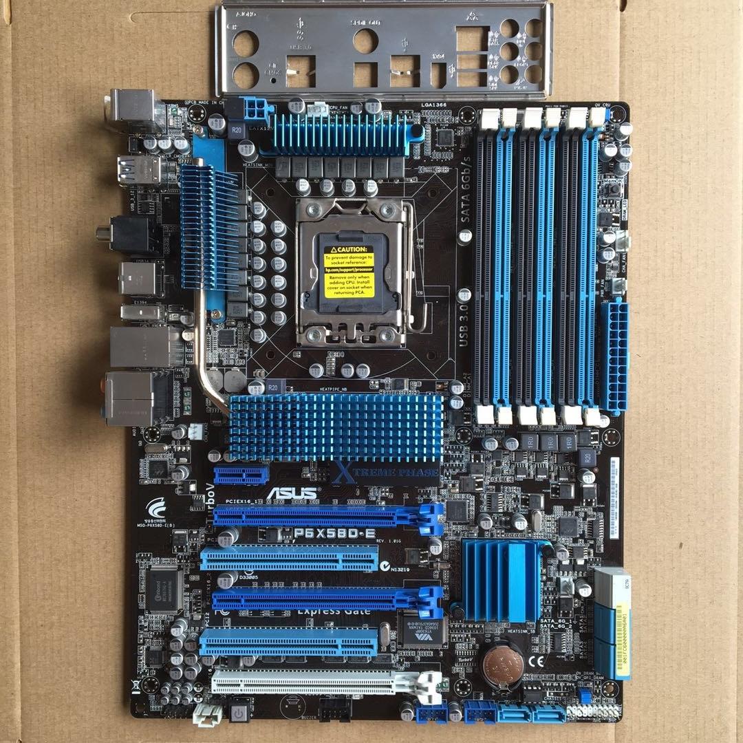 P6X58D-E X58 motherboard LGA1366 with USB3 SATA3 support I7 980X X5650 <font><b>X5670</b></font> used 90%new image