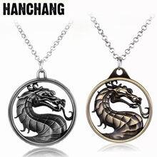 Collier Mortal Kombat pour Fans de jeux de combat, pendentif Dragon Jane Empire, bijoux Vintage, cadeau