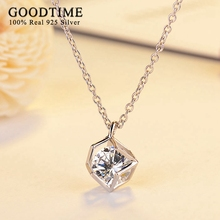 2017 Creative Classic Sterling Silver Jewelry Pure 925 Silver Necklaces for Women Special Magic Square Shape Pendant Necklaces