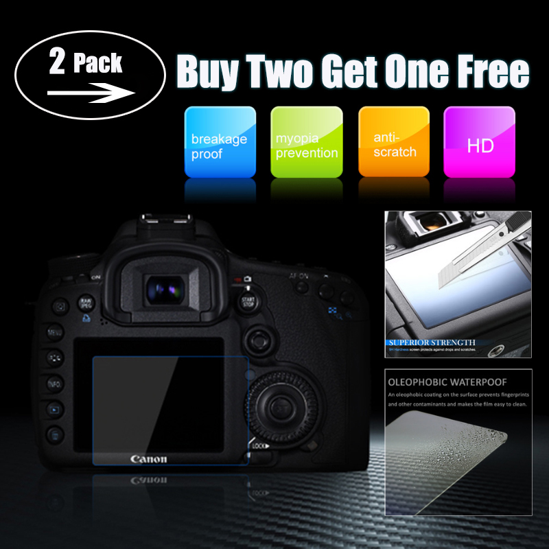 2-Pack Tempered Glass LCD Screen Protector for Sony DSC HX90V HX90 WX500 Camera