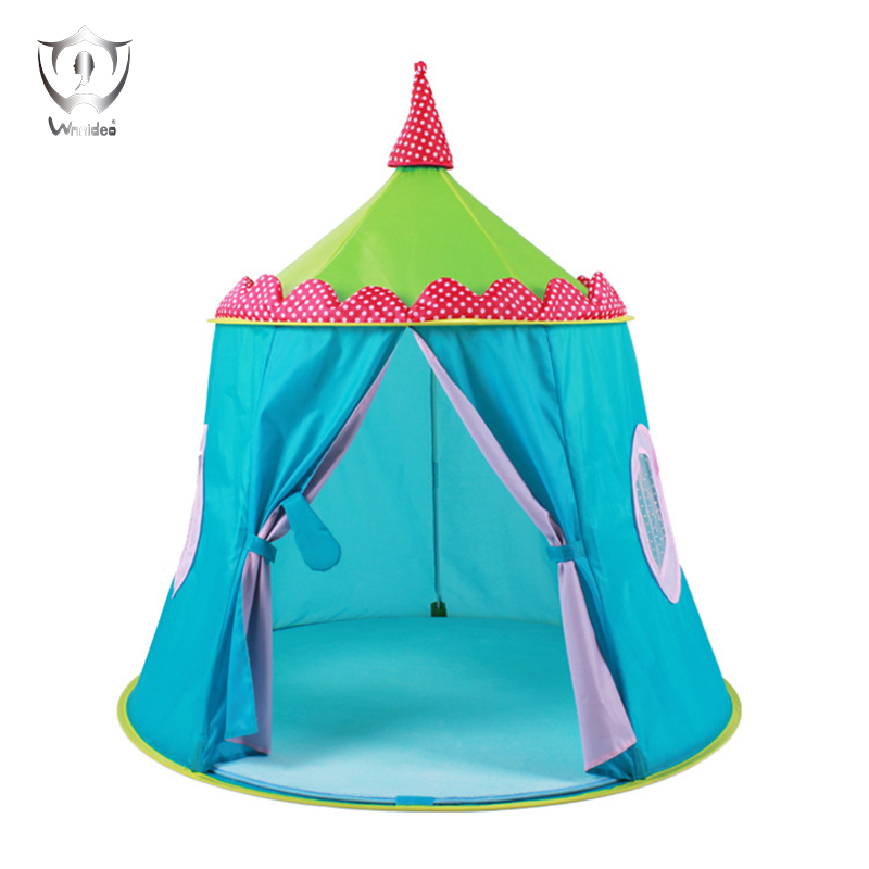 Kids Play Tent Blue Castle Tents  Prince Folding Space Tent Portable for Indoor and Outdoor Fun Plays Zs 1000g dynamic amazing diy educational toys plasticine indoor magic play do dry sands mars space sands color clay for kids