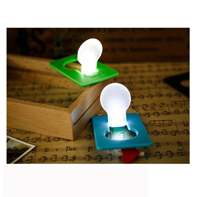 10PCS Mini Wallet Pocket Credit Card Size Portable LED Night Light Lamp Bulbs Cute