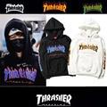 Harajuku Hoodies Hip Hop Roupas de Marca Moda Casais treino Punk Thrasher Skate Moletons pullovers Hoody