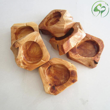 Wooden Ashtray Round Brown Solid Wood Pocket Car Home Decorator Creative Gifts