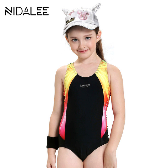 4fe5666ed99 Girls Swimwear Kids One Piece Swimsuit Summer Brand Baby Girls Swimsuit Cute  Professional Swimwear For Girls Baby Beach Suit