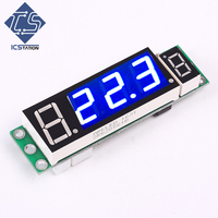 Blue Display DS18B20 Digital Thermometer Module Photosensitive Control Module 6 15V 60mA Combination Of Sensor Display