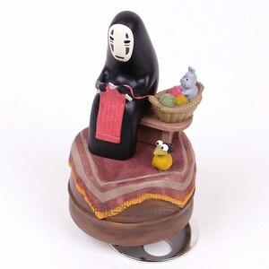 Image 5 - Anime Cartoon Miyazaki Hayao Spirited Away No Face Music Box PVC Action Figure Collection Toy Doll 12cm