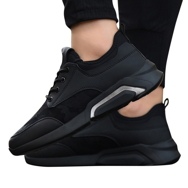Perimedes Black Lace-Up Men's Sneakers Casual 3