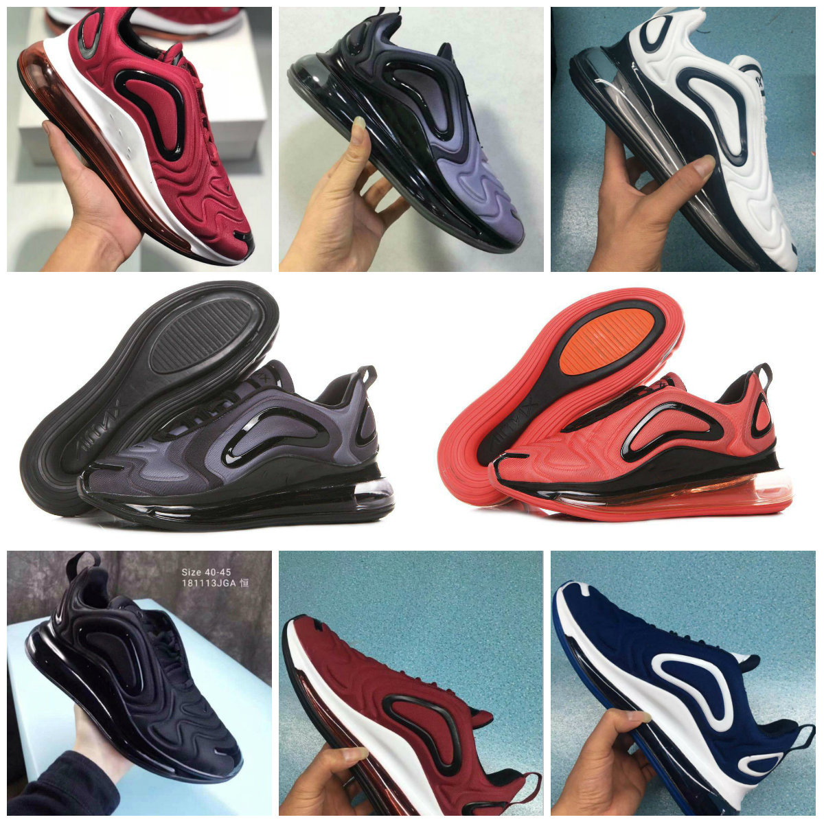 2019 livraison gratuite nouveau Air Vapormax Plus Tn Plus 720 métallisé 270 Max chaussures hommes chaussures Air course Pack hommes chaussures
