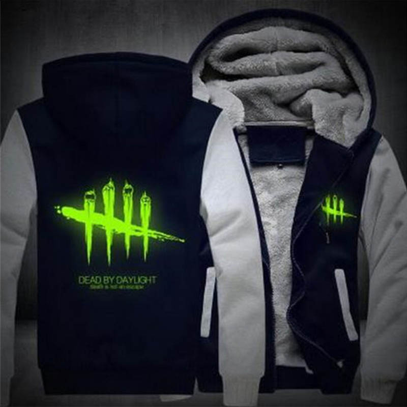 For Men Women Dead by Daylight Luminous Jacket Sweatshirts Thicken Hoodie Coat Clothing Casual US Size