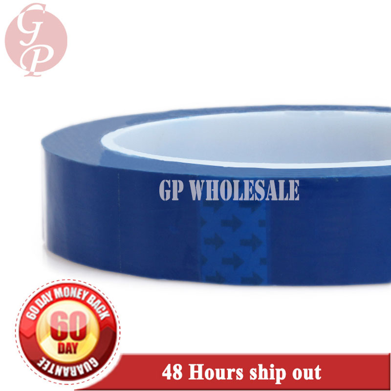 95mm*66M*0.06mm One Side Adhered Insulation Mylar Tape for capacitors, Packing, Blue 2x 14mm 66m 0 06mm pet anti flame high temperature insulation adhesive mylar tape for transformer wrap blue