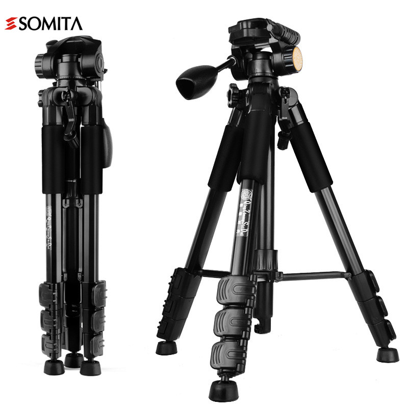 2017 SOMITA New Brand Professional Portable DSLR Tripods Aluminum Stability With Tripod Head  Travel Camera Tripod WT3113 new sys700 aluminum professional tripod