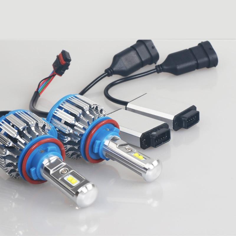 LED fənər H4 40W6000LM Hi-Lo şüa avtomobili LED - Avtomobil işıqları - Fotoqrafiya 5