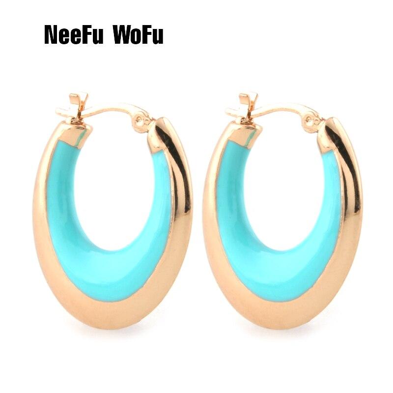 Серьги NeeFu «WoFu» для женщин, кольцо для ушей из цинкового сплава, капающее масло, большие аксессуары, серьги