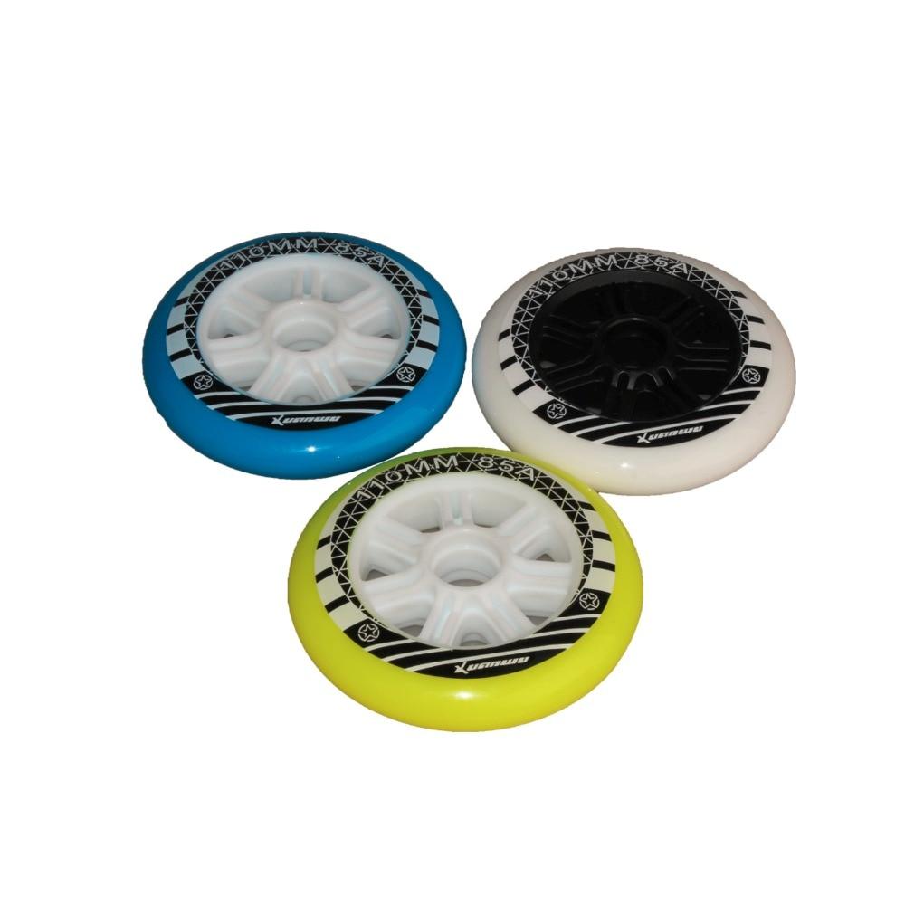 1 Piece Inline Speed Roller Wheels Sliding Skate Wheels PP 110mm PU Racing Wheels Skating 3 Colors