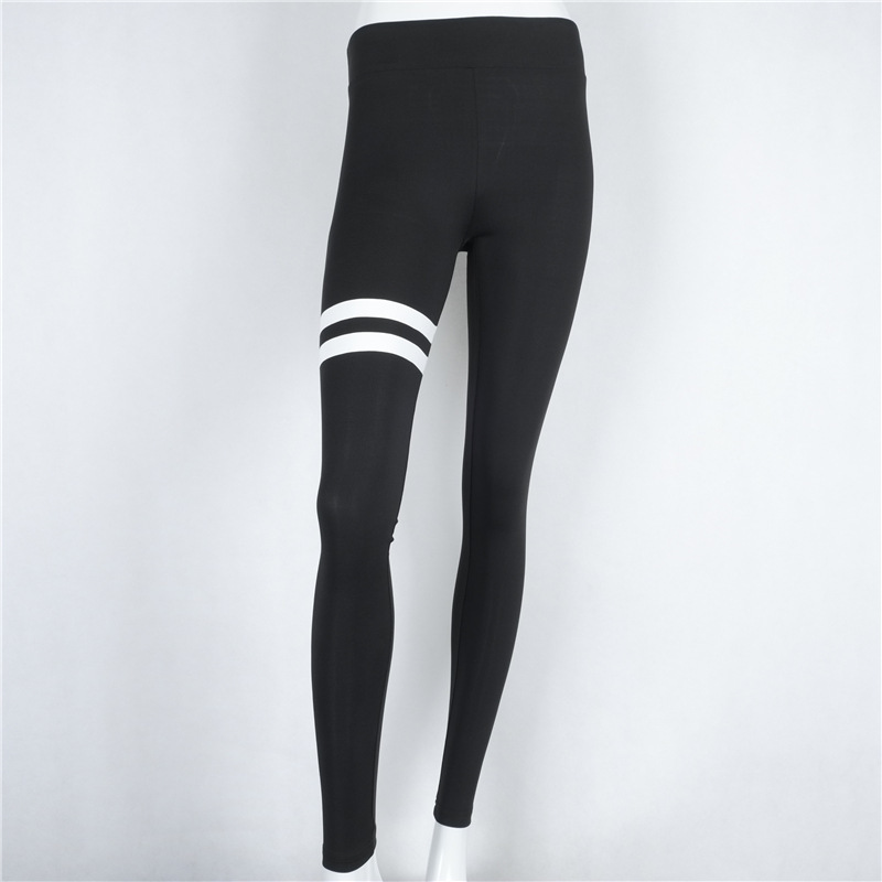 Gym Stripe Running Pants Women Sweatpants Fitness Tights Running Leggings Yoga Elastic Jogging Pants Workout Slim Trousers