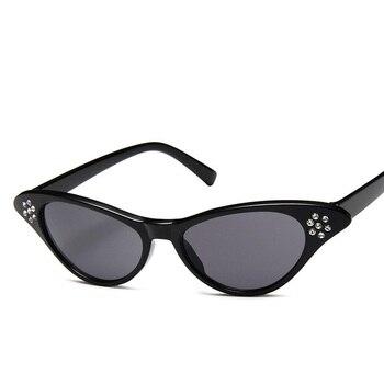 18bef1328e 2019 nueva moda Color caramelo de ojo de gato gafas de sol para las mujeres  de la marca ...