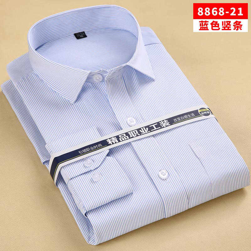حجم كبير مخطط قميص الرجال الأعمال عادية سليم تيشيرت ضيق بأكمام طويلة الذكور الأرجواني دبوس المشارب زر حتى قمصان العمل شيميز أوم 8XL