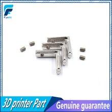 100 шт T слот l-образный алюминиевый профиль интерьер угловой соединительный шов кронштейн для Alu профиль(с винтами M4