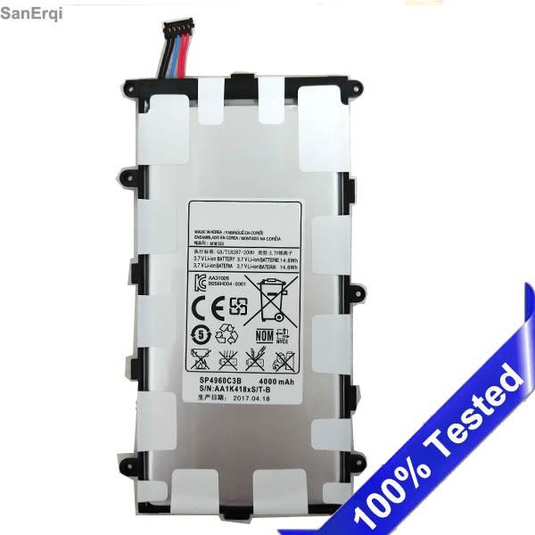 Für samsung P3100 P3110 P3113 P6200 P6210 Batterie SP4960C3B Tab 2 7,0 & 7,0 Plus GT-P3100 Neue 4000 mah Batterie SanErqi
