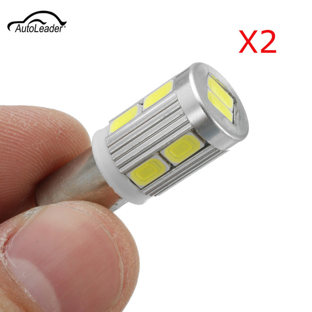 2Pcs BAX9S H6W 10SMD Car LED Turn Siangl Light Sidelight Bulbs For BMW 3 Series F30 F31 F34