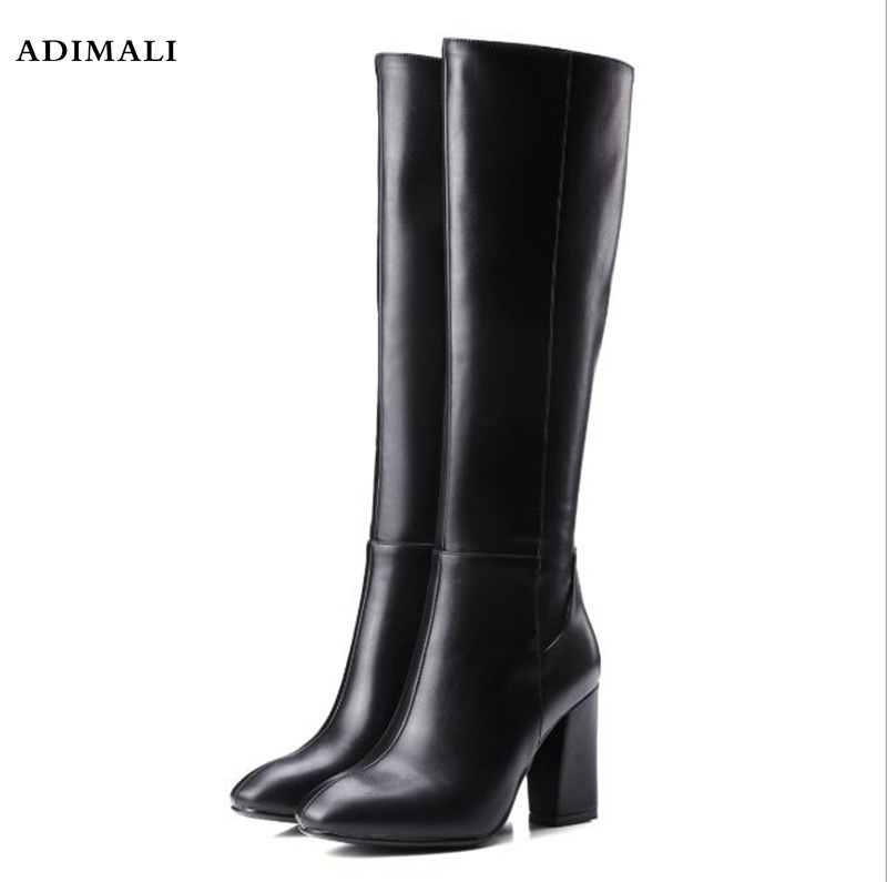 цены на 2017 Women Boots Stretch PU Leather Over The Knee High Sexy Ladies Party High Heels Platform Shoes Woman Black Plus Size 43